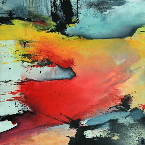 Agnes Lang, Rubedo, Abstraktes, Diverses, Action Painting
