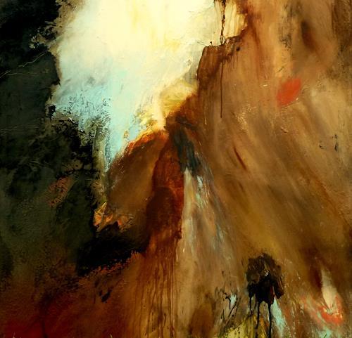 Agnes Lang, im Verborgenen, Abstraktes, Landschaft: Herbst, Gegenwartskunst