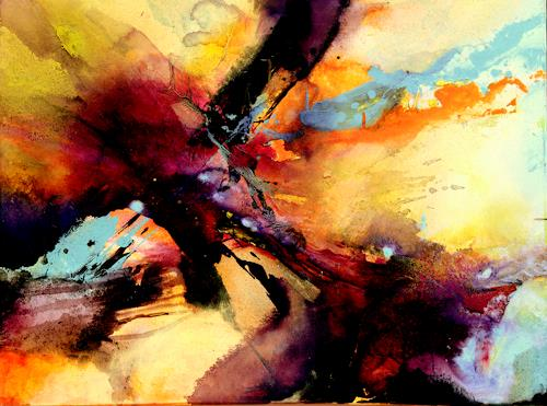 Agnes Lang, Befreiung, Bewegung, Abstraktes, Informel, Abstrakter Expressionismus
