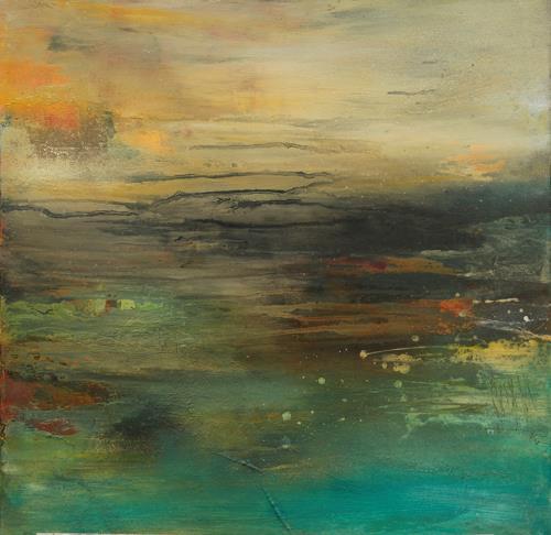 Agnes Lang, Horizont l, Landschaft, Abstraktes, Gegenwartskunst