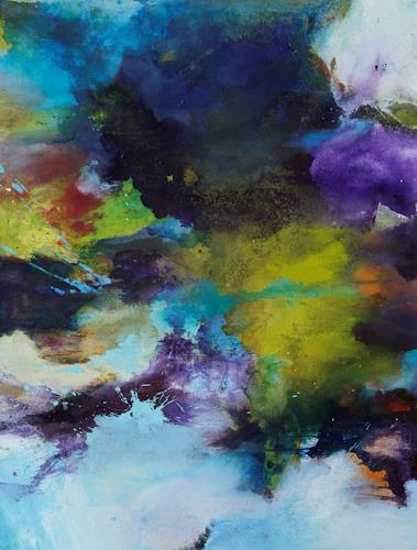 Agnes Lang, die Welt von oben, Abstraktes, Fantasie, Gegenwartskunst