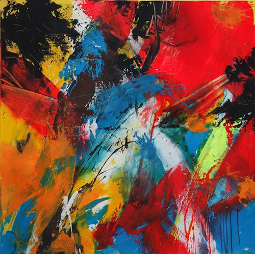Agnes Lang, Speed I, Bewegung, Abstraktes, Action Painting, Abstrakter Expressionismus
