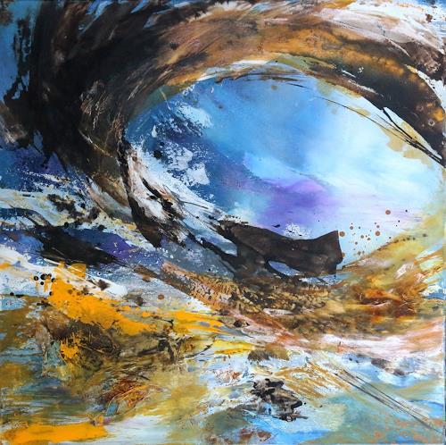Agnes Lang, Tage am Meer ll, Landschaft: See/Meer, Informel, Expressionismus