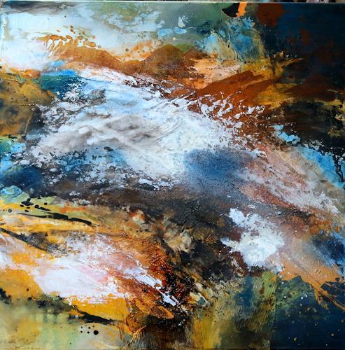 Agnes Lang, Tage am Meer lll, Landschaft: See/Meer, Informel