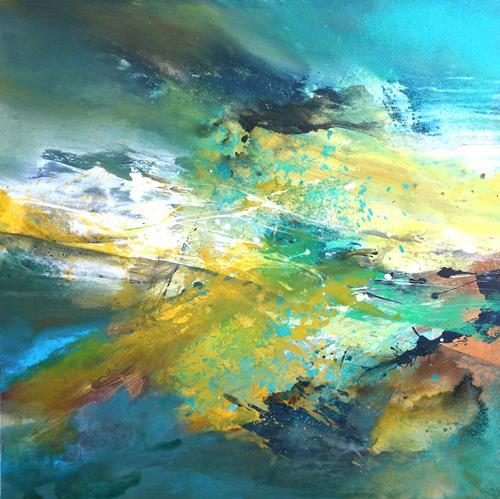 Agnes Lang, Auvergne II, Landschaft: Frühling, Natur, Informel, Expressionismus