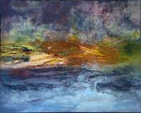 Agnes-Lang-Landschaft-Ebene-Abstraktes-Moderne-Abstrakte-Kunst-Colour-Field-Painting