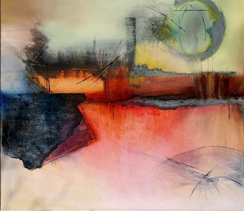 Agnes Lang, Industrielandschaft, Fantasie, Industrie, Abstrakte Kunst, Expressionismus