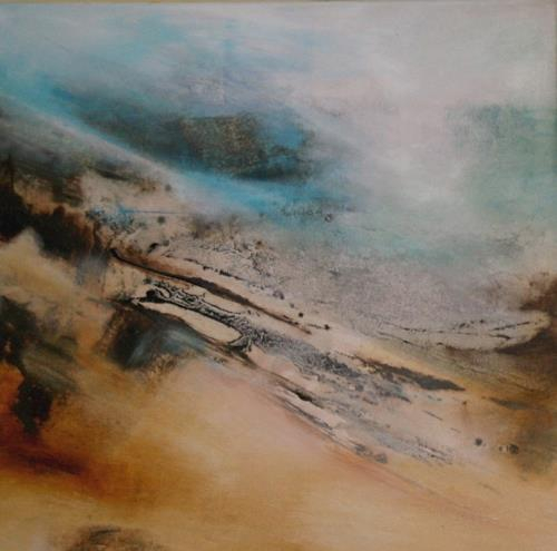 Agnes Lang, arktische Reise II, Landschaft: Hügel, Abstraktes, Informel, Abstrakter Expressionismus