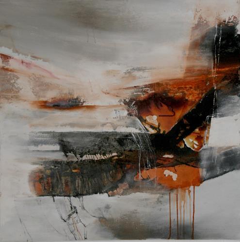 Agnes Lang, zum Wolkenschlösschen, Fantasie, Landschaft: Winter, Abstrakte Kunst