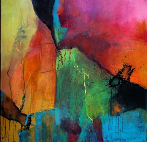 Agnes Lang, Turmalin, Fantasie, Abstraktes, Informel, Expressionismus