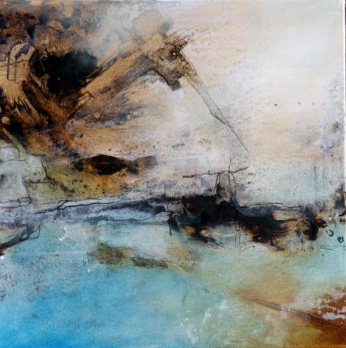 Agnes Lang, Arktische Reise, Landschaft: Winter, Abstraktes, Gegenwartskunst