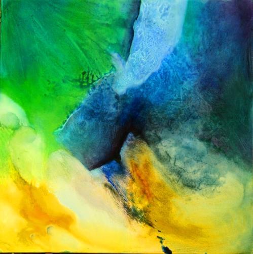 Agnes Lang, Mai-Impressionen ll, Abstraktes, Fantasie, Gegenwartskunst