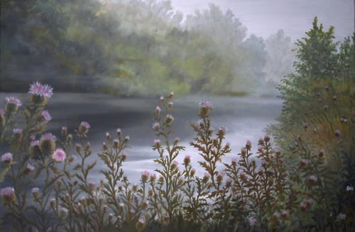 hofmannsART, Früher Morgen, Natur: Wasser, Diverse Landschaften, Realismus, Expressionismus