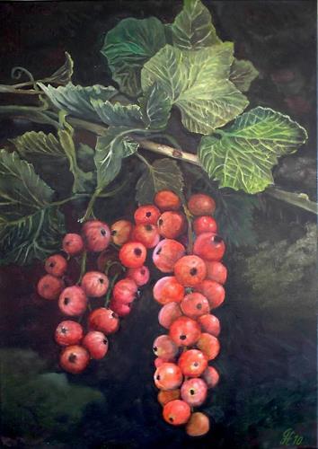 hofmannsART, Johannisbeere (Ribes rubrum), Pflanzen: Früchte, Ernte, Realismus, Expressionismus