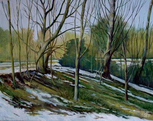 Günther Hofmann, Tauwetter, Zeiten: Frühling, Landschaft: Frühling, Neo-Impressionismus, Expressionismus