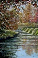 G. Hofmann, Herbstlicht am Kanal