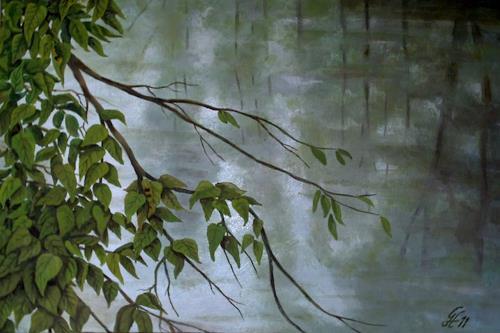 hofmannsART, Stille Wasser, Natur: Wasser, Impressionismus