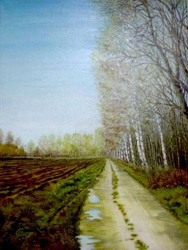 Günther Hofmann, Nach dem Regen, Diverse Landschaften, Abstrakte Kunst