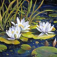 hofmannsART-Natur-Wasser-Pflanzen-Blumen-Moderne-Impressionismus