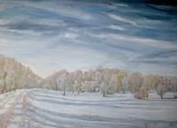 hofmannsART-Landschaft-Winter-Zeiten-Winter-Moderne-Impressionismus-Neo-Impressionismus