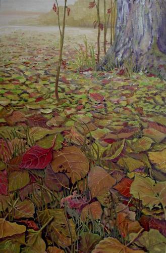 hofmannsART, Herbstlaub, Natur: Diverse, Pflanzen: Bäume, Naturalismus, Expressionismus
