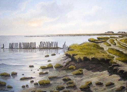 Lothar Strübbe, Nordfriesland, Landschaft: See/Meer, Natur: Wasser, Naturalismus