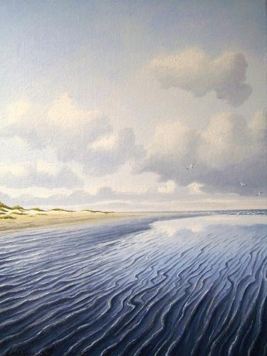 Lothar Strübbe, Wattenmeer, Landschaft: See/Meer, Natur: Wasser, Naturalismus