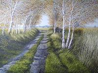 Lothar-Struebbe-Landschaft-Herbst-Landschaft-Ebene-Moderne-Naturalismus