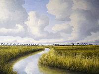 Lothar-Struebbe-Landschaft-Sommer-Natur-Wasser-Moderne-Naturalismus