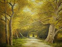 Lothar-Struebbe-Landschaft-Herbst-Natur-Wald-Moderne-Naturalismus