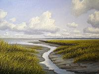 Lothar-Struebbe-Landschaft-See-Meer-Landschaft-Strand-Moderne-Naturalismus