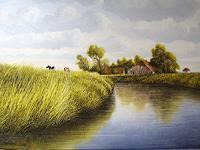 Lothar-Struebbe-Landschaft-Ebene-Landschaft-Sommer-Moderne-Naturalismus