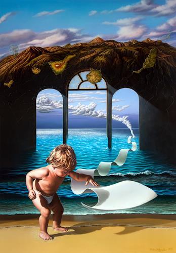 Roland H. Heyder, Callao, makarios nesos, Landschaft: Berge, Landschaft: See/Meer, Postsurrealismus, Expressionismus