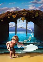 Roland-H.-Heyder-Landschaft-Berge-Landschaft-See-Meer-Gegenwartskunst-Postsurrealismus