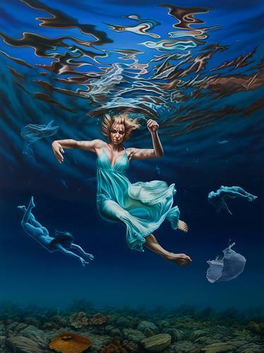 Roland H. Heyder, Plastikfee, Menschen: Frau, Natur: Wasser, Hyperrealismus, Abstrakter Expressionismus
