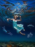 Roland-H.-Heyder-Menschen-Frau-Natur-Wasser-Moderne-Fotorealismus-Hyperrealismus