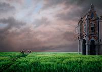 Roland-H.-Heyder-Landschaft-Fruehling-Bauten-Haus-Moderne-Fotorealismus-Hyperrealismus