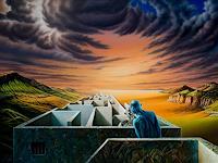 Roland-H.-Heyder-Menschen-Paare-Landschaft-Berge-Gegenwartskunst-Postsurrealismus