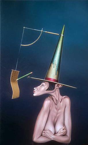 Roland H. Heyder, Die Autodidaktin, Akt/Erotik: Akt Frau, Technik, Surrealismus, Abstrakter Expressionismus