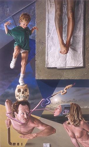 Roland H. Heyder, Aufbruchstimmung, Bewegung, Tod/Krankheit, Konkrete Kunst, Abstrakter Expressionismus