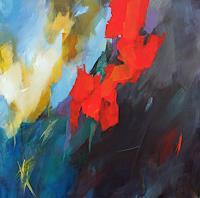 Ute-Laum-Abstraktes-Pflanzen-Blumen-Moderne-Expressionismus-Abstrakter-Expressionismus