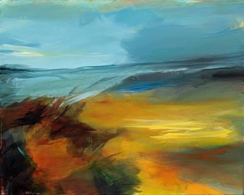 Ute Laum, Endlos, Landschaft: See/Meer, Abstraktes, Abstrakte Kunst, Abstrakter Expressionismus