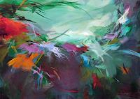 Ute-Laum-Diverse-Pflanzen-Abstraktes-Moderne-Abstrakte-Kunst