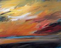 Ute-Laum-Landschaft-See-Meer-Diverse-Landschaften-Moderne-Abstrakte-Kunst