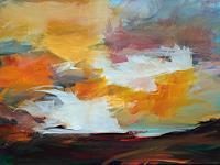 Ute-Laum-Landschaft-Huegel-Natur-Diverse-Moderne-Expressionismus