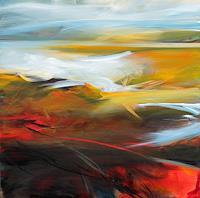 Ute-Laum-Landschaft-See-Meer-Natur-Diverse-Moderne-Abstrakte-Kunst-Informel