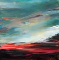 Ute-Laum-Landschaft-See-Meer-Abstraktes-Moderne-Expressionismus