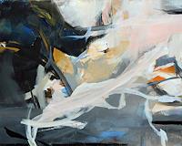 Ute-Laum-Abstraktes-Landschaft-Winter-Moderne-Abstrakte-Kunst-Informel