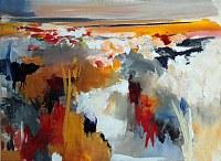 Ute-Laum-Landschaft-Herbst-Abstraktes-Moderne-Abstrakte-Kunst-Informel