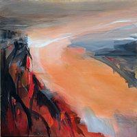 Ute-Laum-Landschaft-Herbst-Landschaft-Huegel-Moderne-Abstrakte-Kunst